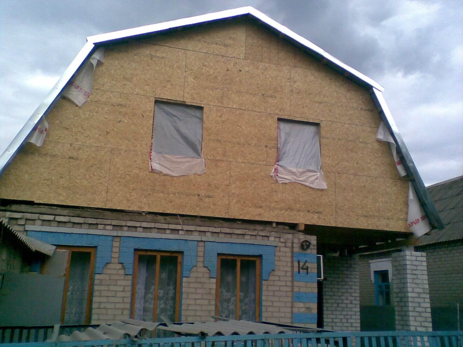балконом фронтон фото с мансарда