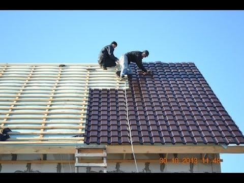 Монтаж крыши и укладка кровли из металлочерепицы, кровельные работы в Запорожье по низким ценам