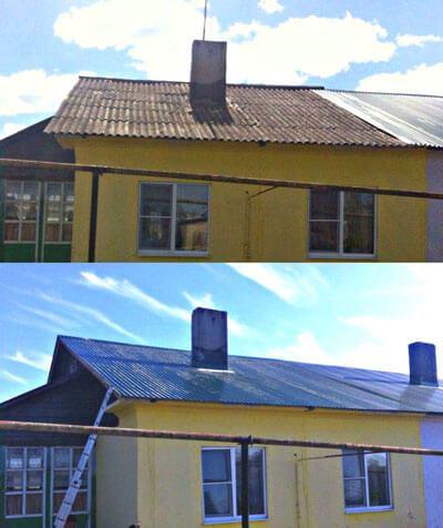 Перекроем старую кровлю крыши дома в Запорожье металлочерепицей или профнастилом