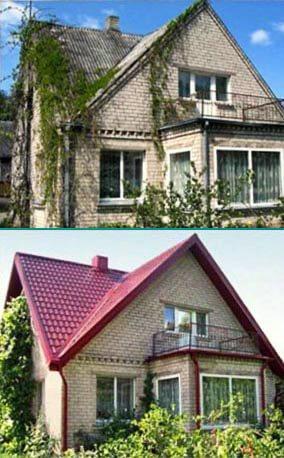 Перекрыть кровлю крыши частного дома металлочерепицей в Запорожье по низким ценам