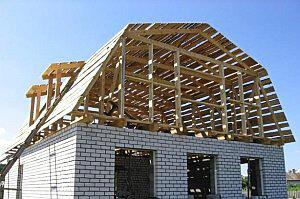 Строим мансардную крышу частного дома в Запорожье, фото