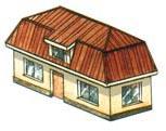 Форма кровли крыши - мансардная вальмовая