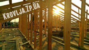 Монтаж стропильной системы для крыши из профнастила