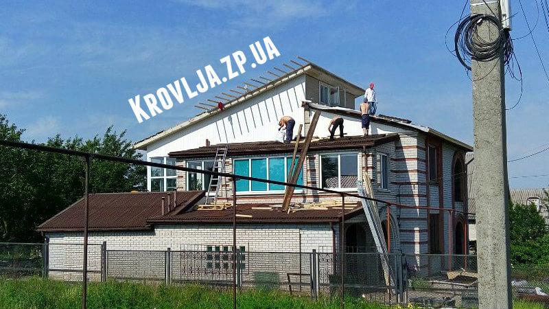 Перекрываем старую крышу из ондулина на композитную черепицу